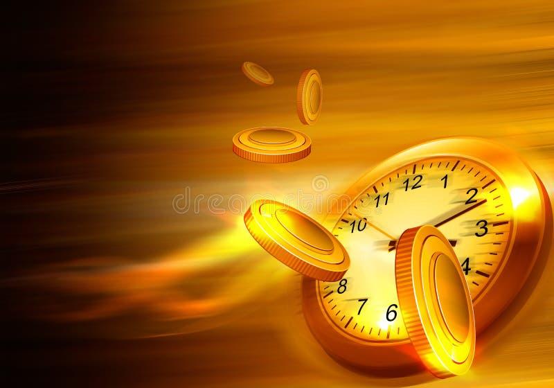 Le temps, c'est de l'argent concept illustration libre de droits