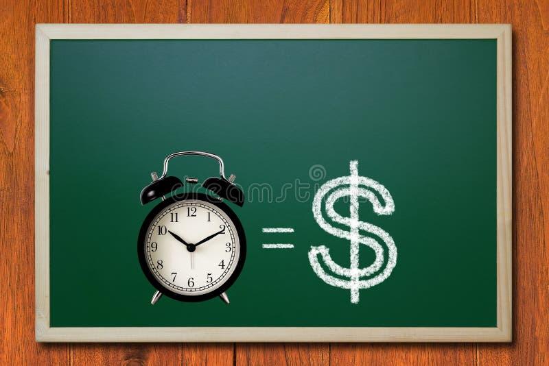 Le temps, c'est de l'argent concept photographie stock