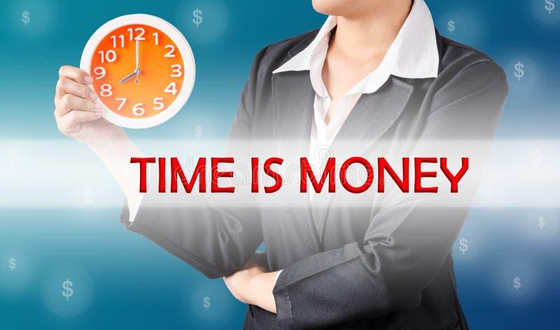 Le temps, c'est de l'argent, concept d'affaires image stock
