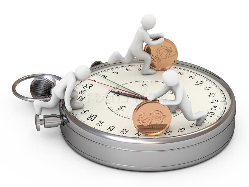 Le temps, c'est de l'argent. Concept des affaires illustration libre de droits