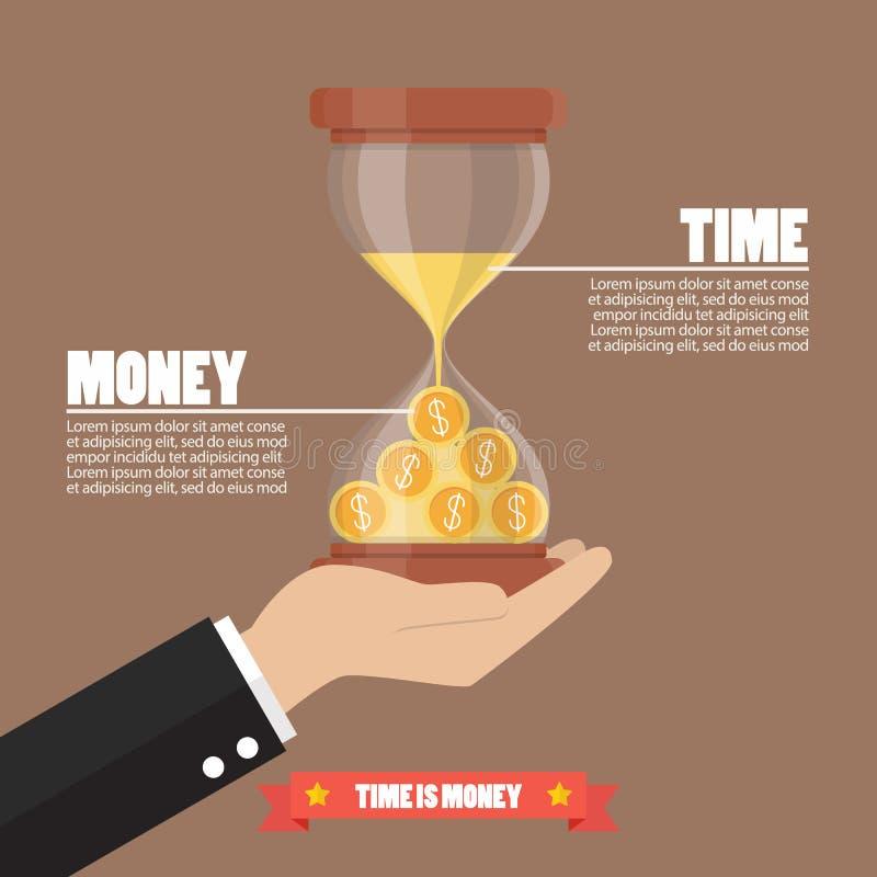 Le temps, c'est de l'argent infographic illustration de vecteur