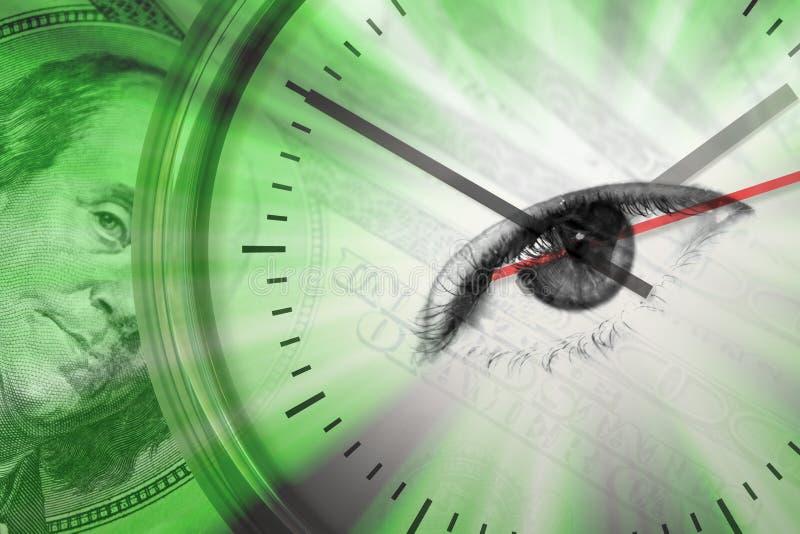 Le temps, c'est de l'argent montage illustration stock