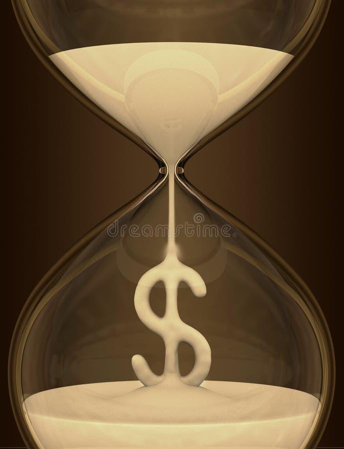 Le temps, c'est de l'argent (sablier) illustration libre de droits