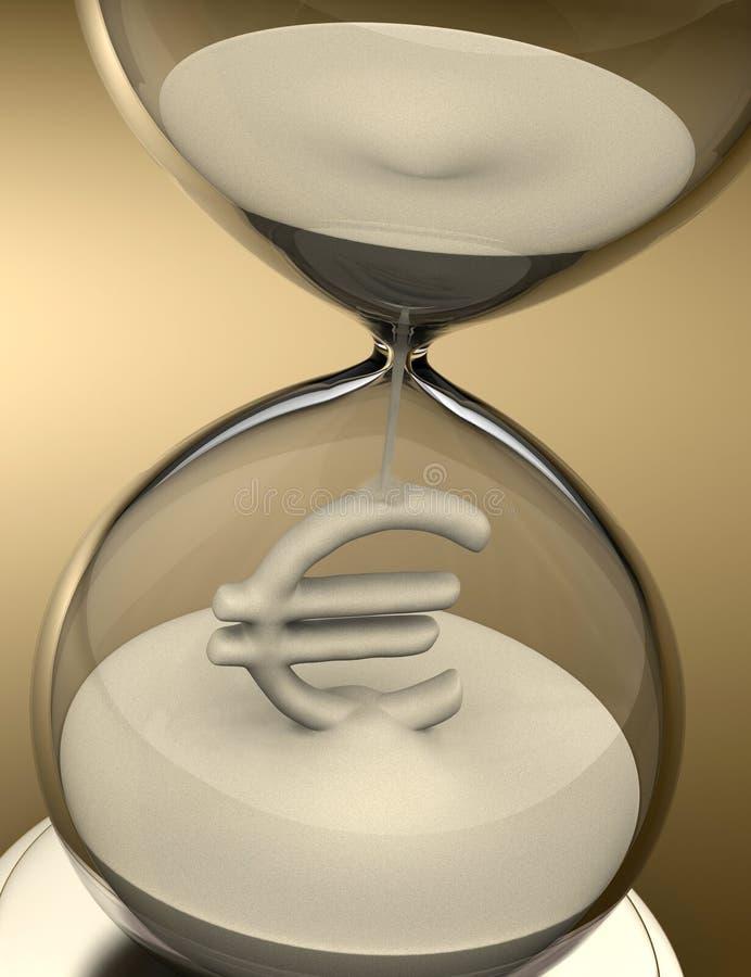 Le temps, c'est de l'argent (sablier) illustration de vecteur