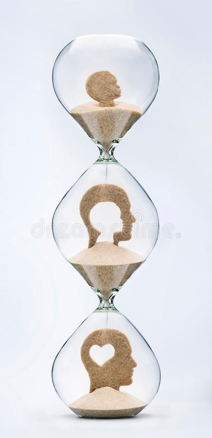 Le temps est amour Concept émotif d'intelligence image libre de droits