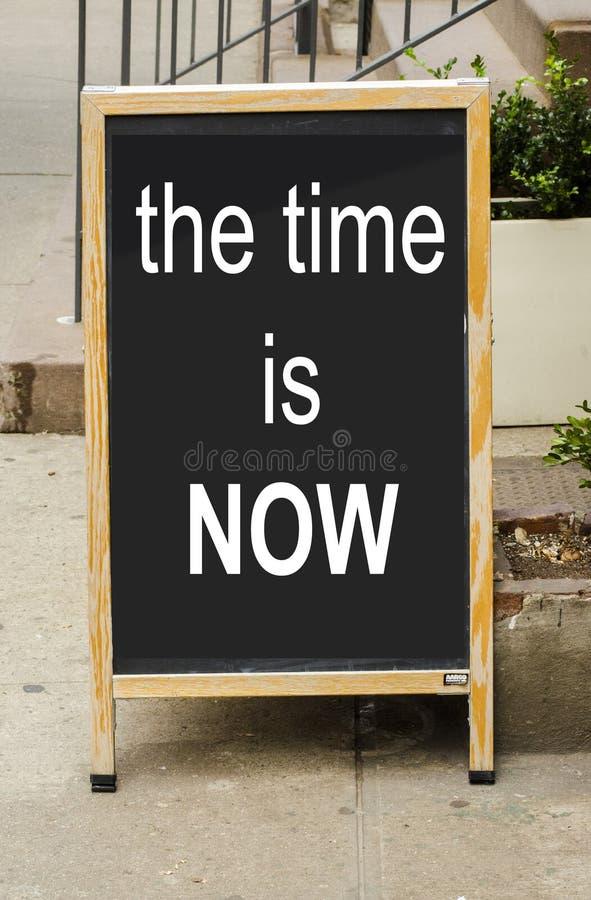 Le temps est maintenant photographie stock libre de droits