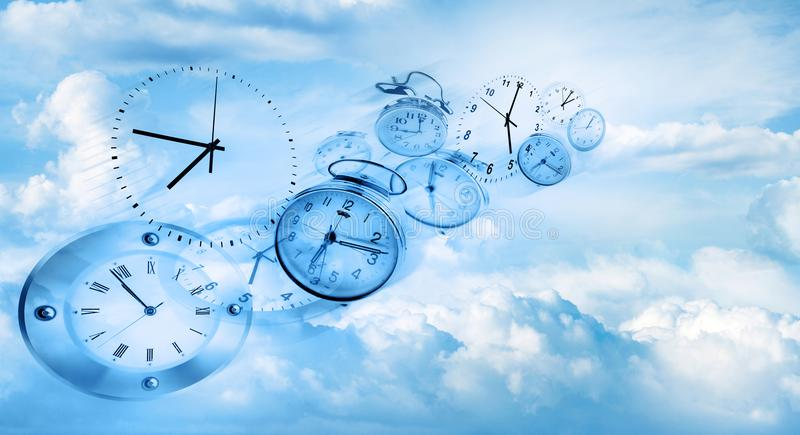 Le temps vole photo stock