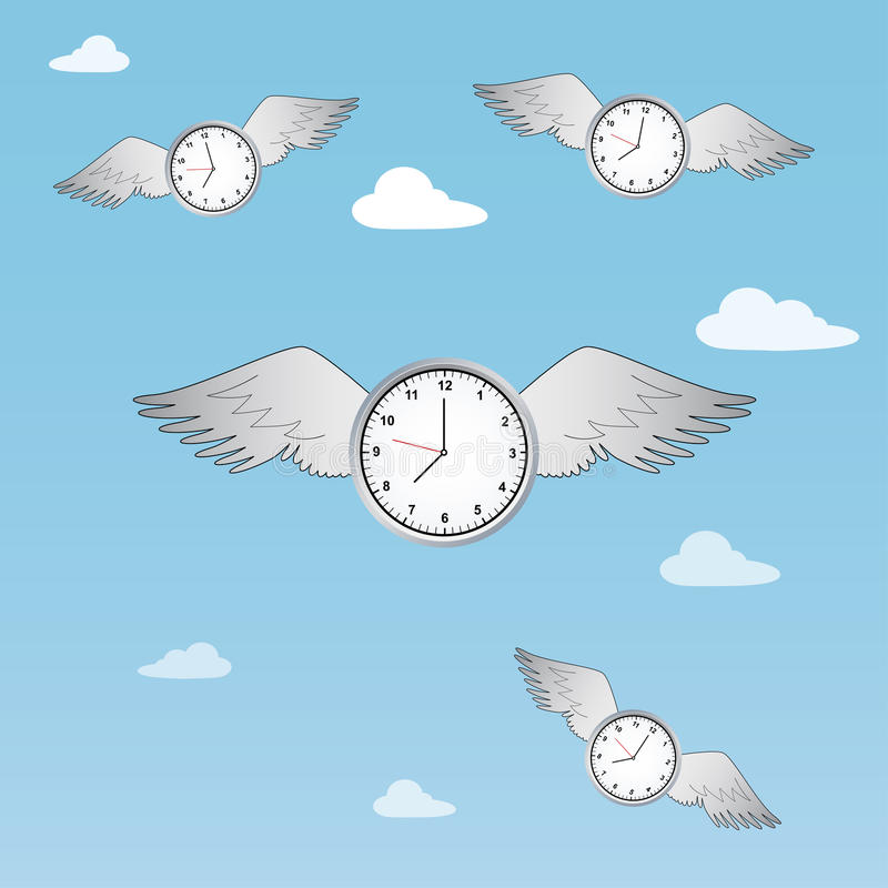 Le temps vole illustration stock