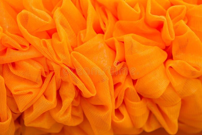 Le tende arancio hanno fatto i fiori fotografia stock