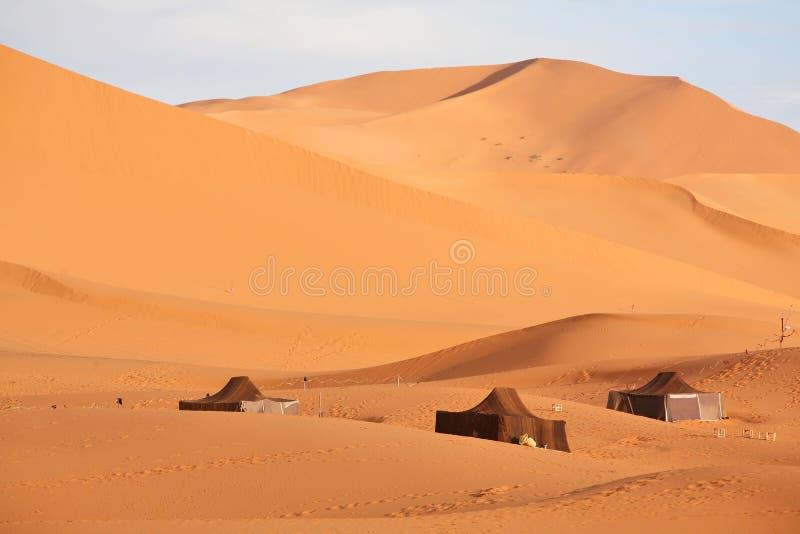 Le tende del nomade (Berber) fotografia stock libera da diritti