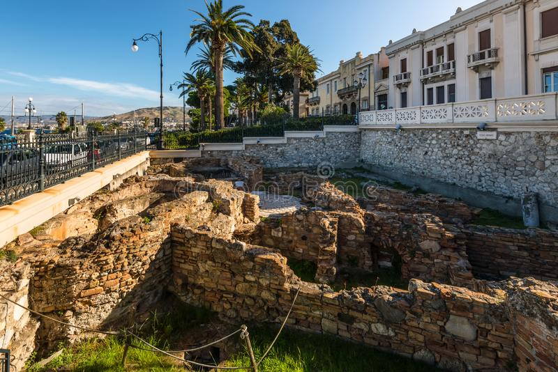 Le Terme Romane Roman Baths, Reggio Calabria, Itália foto de stock royalty free