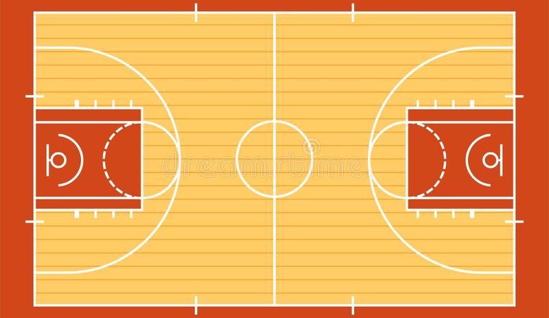 Le terrain de basket a isolé 2 illustration libre de droits