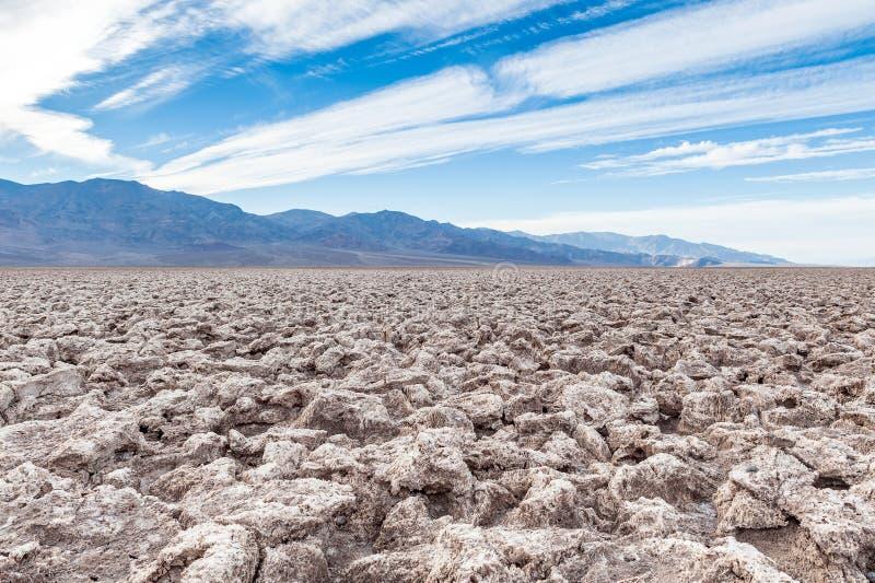 Le terrain de golf du diable, parc national de Death Valley, Etats-Unis image stock