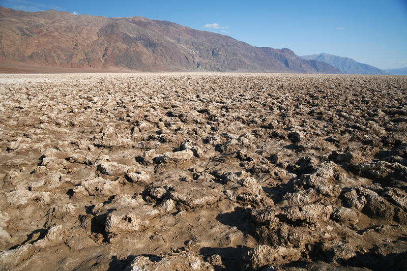Le terrain de golf du diable, parc national de Death Valley, la Californie, Etats-Unis photographie stock libre de droits