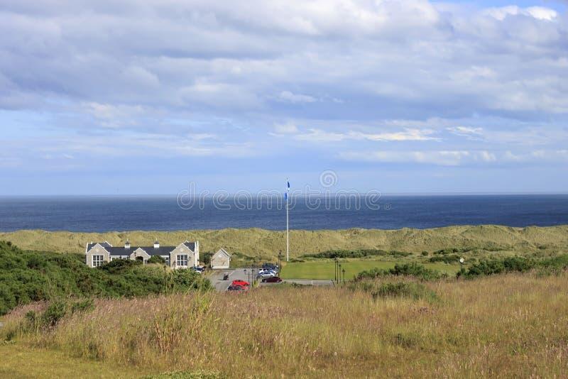 Le terrain de golf international de Donald Trump Balmedie, Aberdeenshire, Ecosse images libres de droits