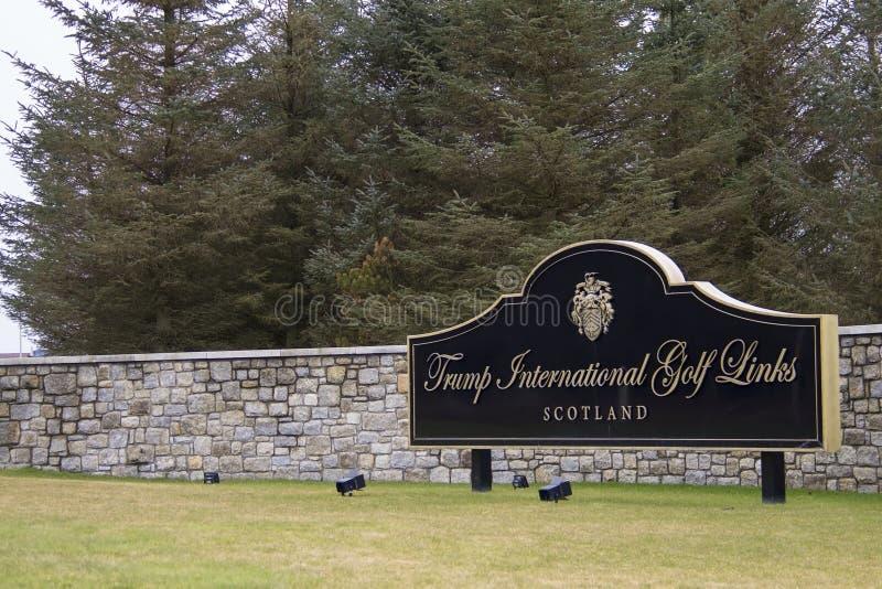 Le terrain de golf international de Donald Trump Balmedie, Aberdeenshire, Ecosse image libre de droits