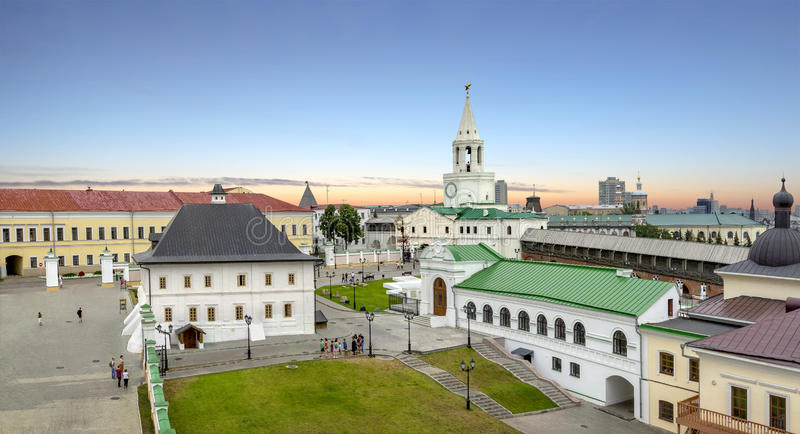 Le territoire de Kazan Kremlin Le Tatarstan, Russie photos stock