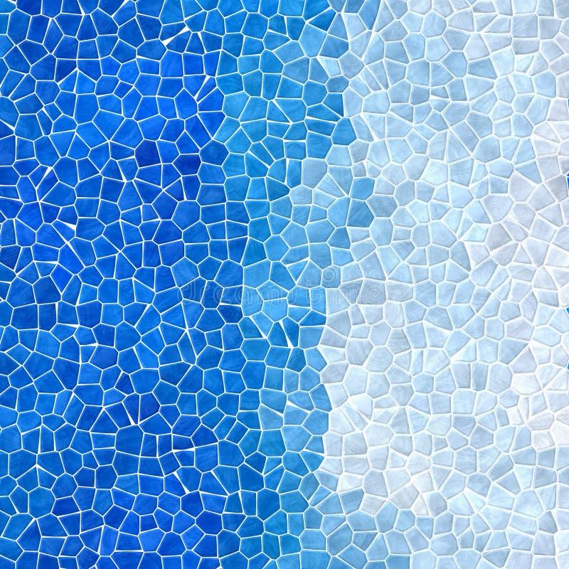 Le tessere pietrose di plastica di marmo della natura strutturano il fondo con malta liquida bianca - cielo e colori blu-chiaro d illustrazione di stock