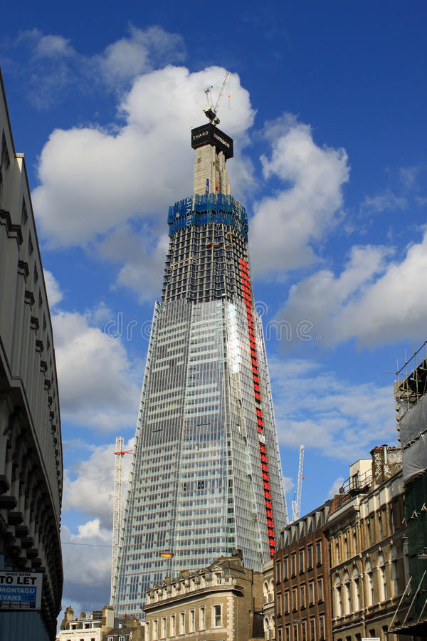 Le tesson, Londres - gratte-ciel en construction images libres de droits