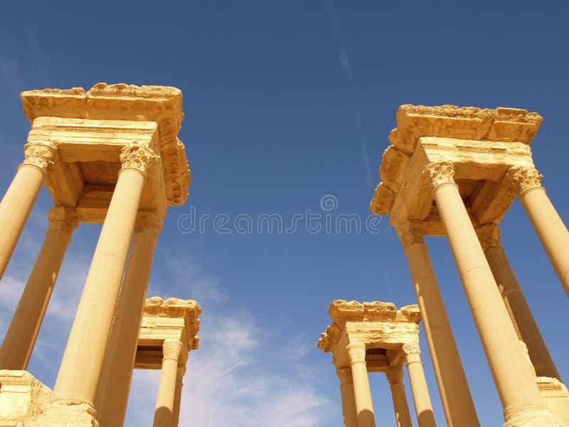Le Tetrapylon dans le Palmyra images libres de droits