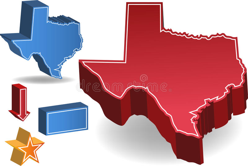 Le Texas illustration stock