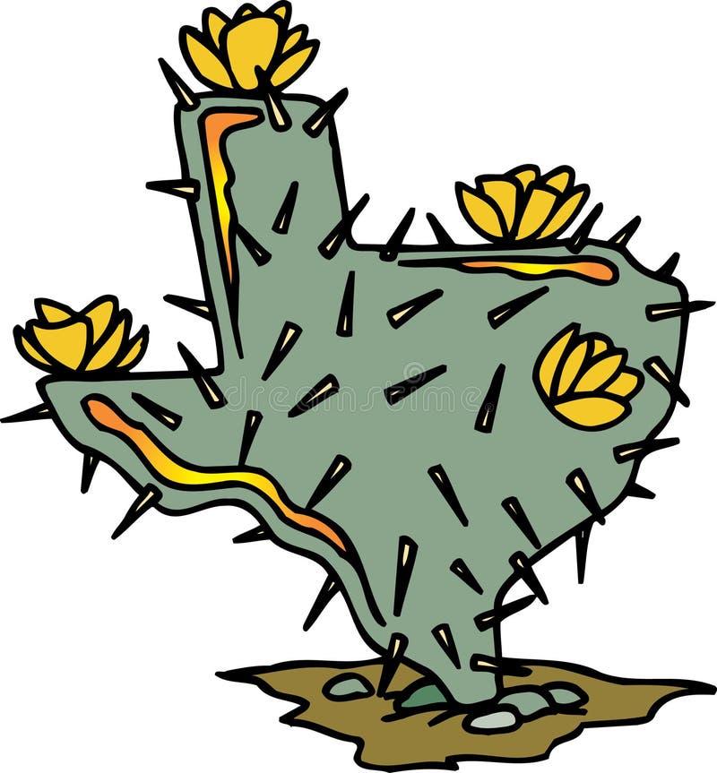 Le Texas a formé le cactus illustration libre de droits