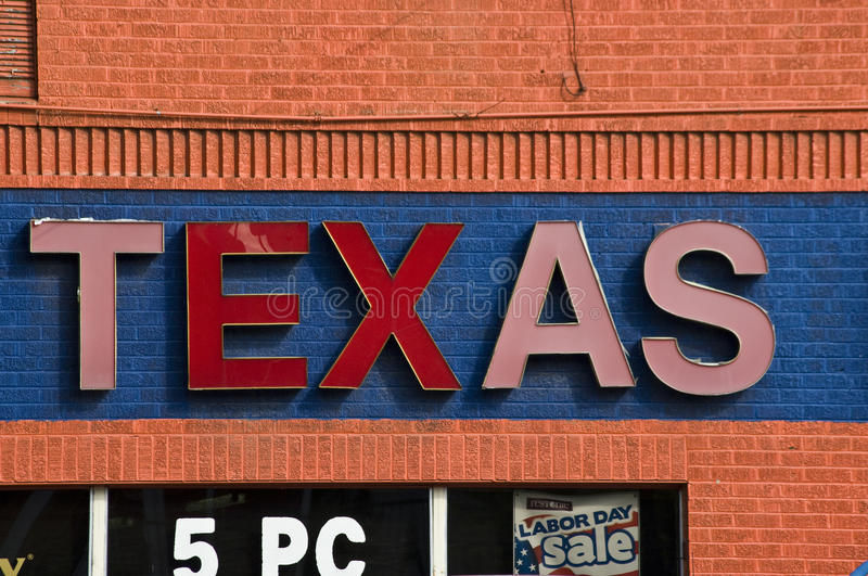 Le Texas se connectent le magasin de rabais photos libres de droits