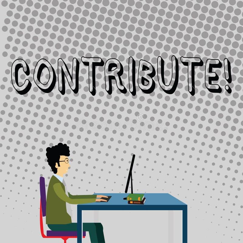 Le texte d'écriture contribuent Concept signifiant la décision Teamworking de stratégie pour le but réussi commun d'Achiving illustration libre de droits