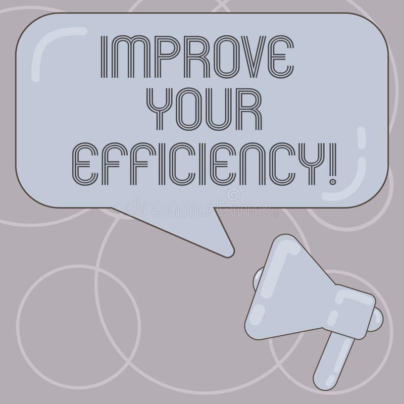 Le texte d'écriture de Word améliorent votre efficacité Concept d'affaires pour la productivité d'augmentation tout en sauvant to illustration stock