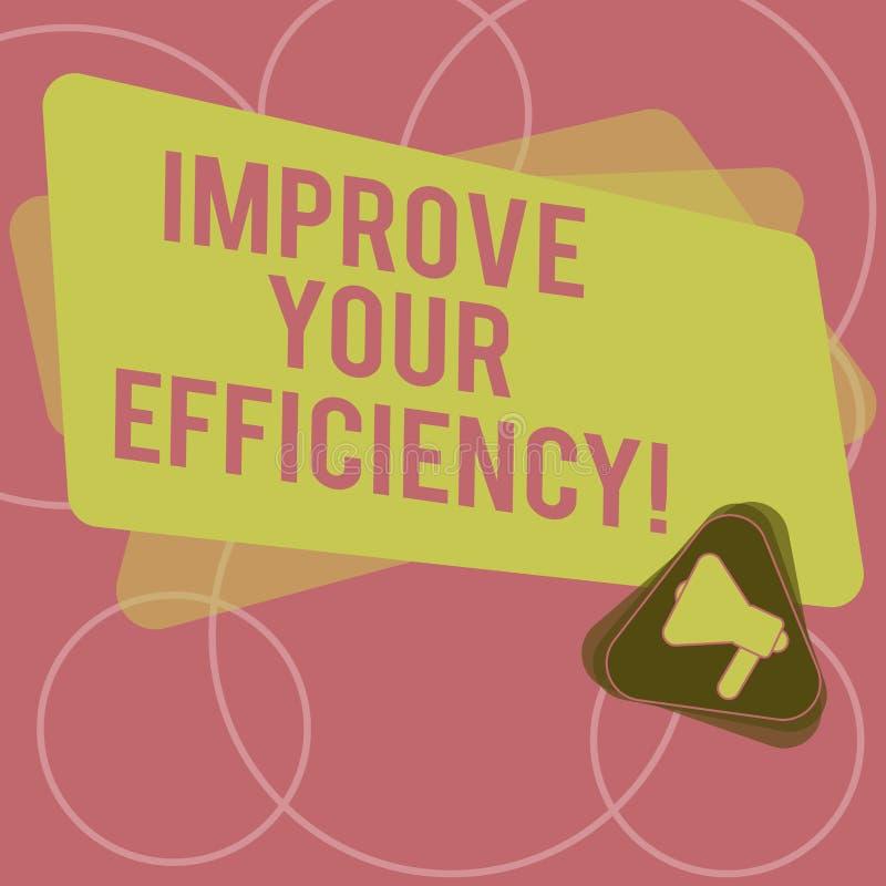 Le texte d'écriture de Word améliorent votre efficacité Concept d'affaires pour la productivité d'augmentation tout en sauvant to illustration libre de droits