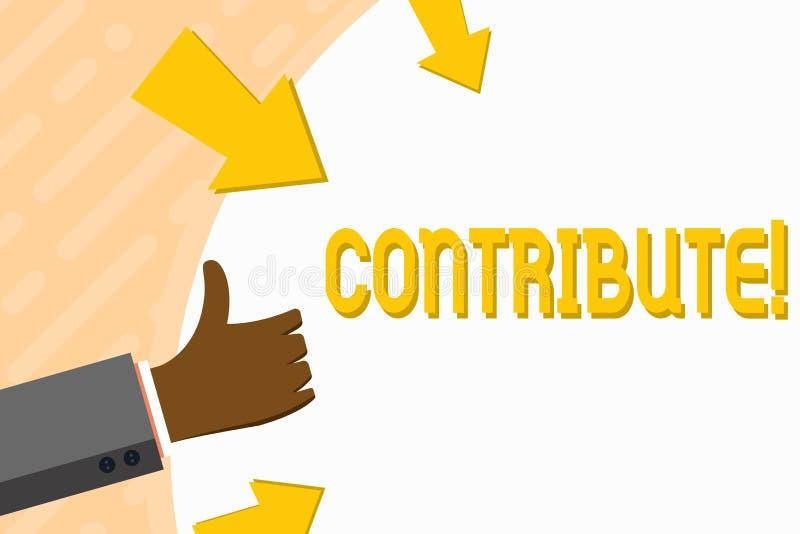 Le texte d'écriture de Word contribuent Concept d'affaires pour la décision Teamworking de stratégie pour le but réussi commun d' illustration libre de droits