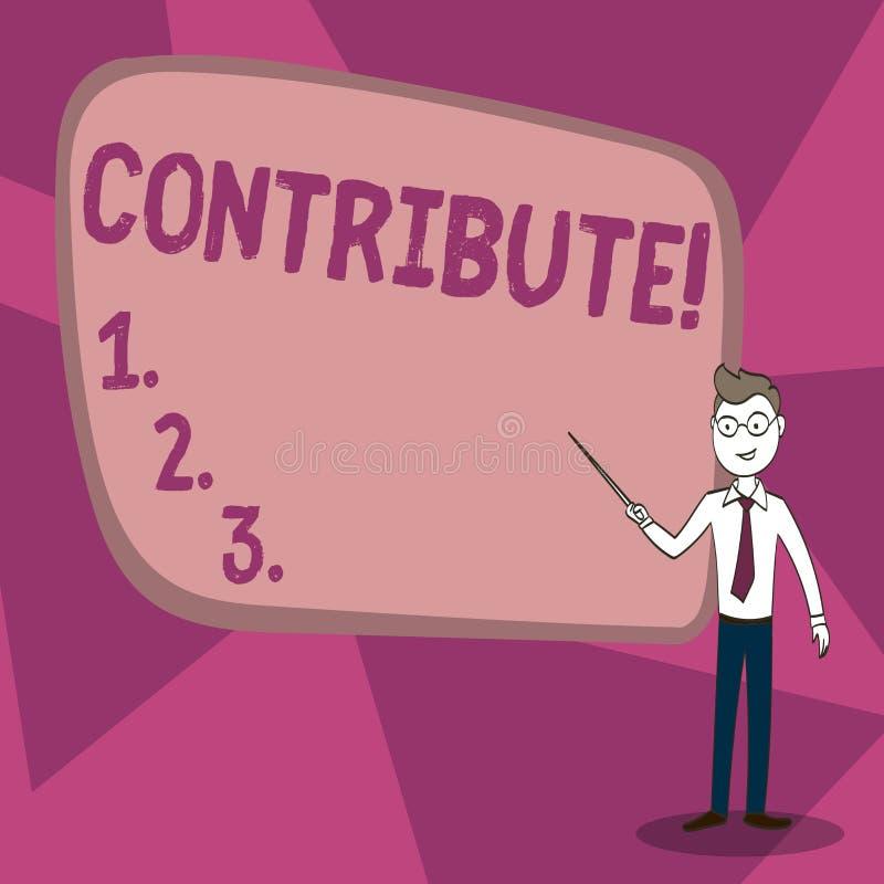 Le texte d'écriture de Word contribuent Concept d'affaires pour la décision Teamworking de stratégie pour le but réussi commun d' illustration de vecteur