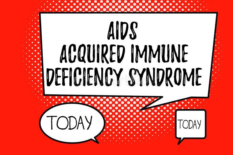 Le texte d'écriture de Word facilite le syndrome d'immunodéficience acquise Concept d'affaires pour l'étape sérieuse de la maladi illustration de vecteur