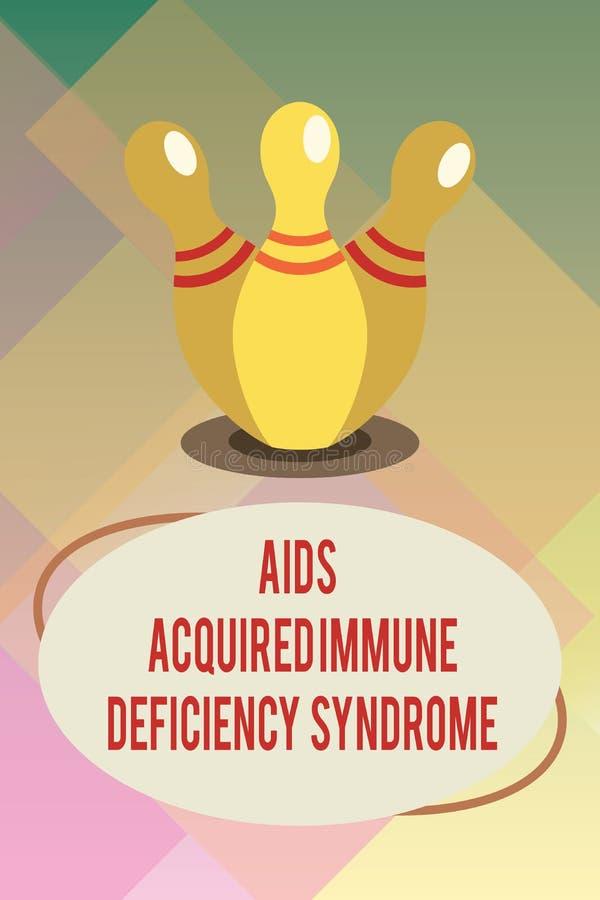Le texte d'écriture facilite le syndrome d'immunodéficience acquise Étape sérieuse de signification de concept de la maladie d'HI illustration de vecteur