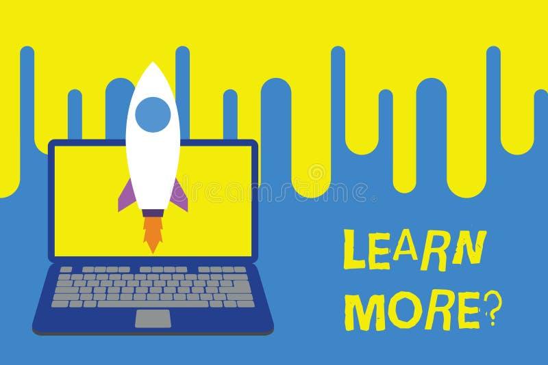 Le texte d'?criture de Word apprennent plus de question Concept d'affaires pour la connaissance ou la compétence de gain étudiant illustration libre de droits