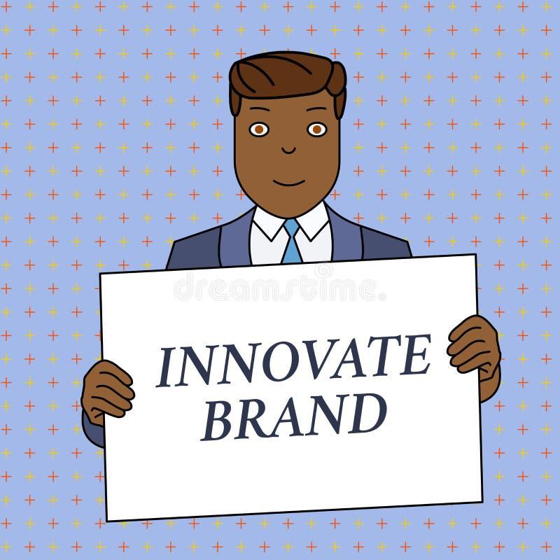 Le texte d'?criture de Word innovent marque Concept d'affaires pour que significatif innove produits, services et homme de sourir illustration libre de droits