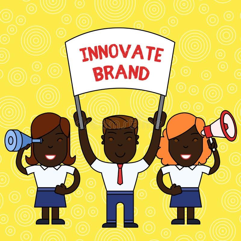 Le texte d'?criture de Word innovent marque Concept d'affaires pour que significatif innove produits, services et plus de personn illustration de vecteur