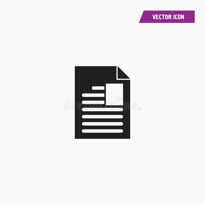 Le texte de document ajoutent l'espace, icône d'image d'insertion illustration de vecteur