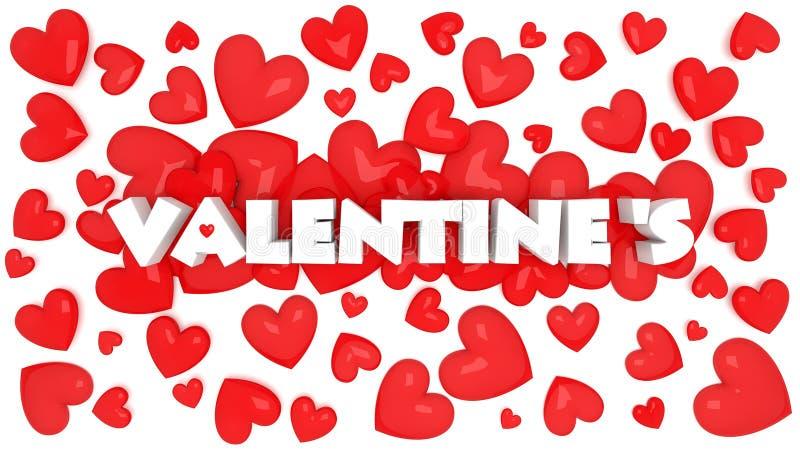 le texte de la valentine 3D illustration de vecteur