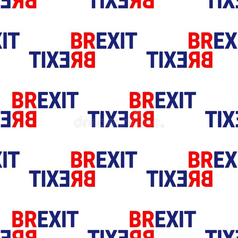 Le texte de signe de concept de Brexit a isolé Sortie du Royaume-Uni d'image de parent de l'Europe Processus adroit de Brexit Art illustration stock