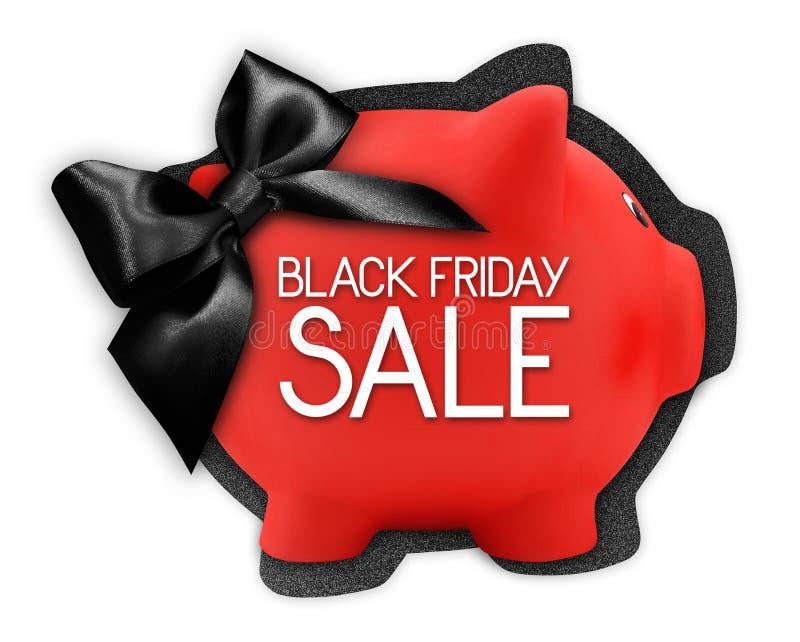 Le texte de vente de Black Friday écrivent sur le label de carte cadeaux sous forme de image libre de droits