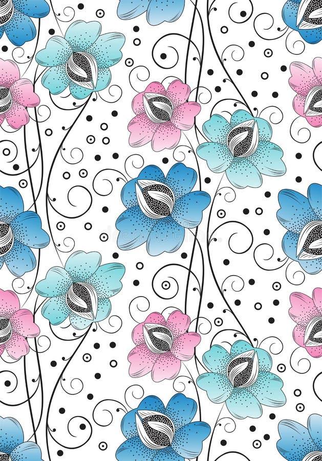Le textile sans joint fleurit le fond illustration de vecteur