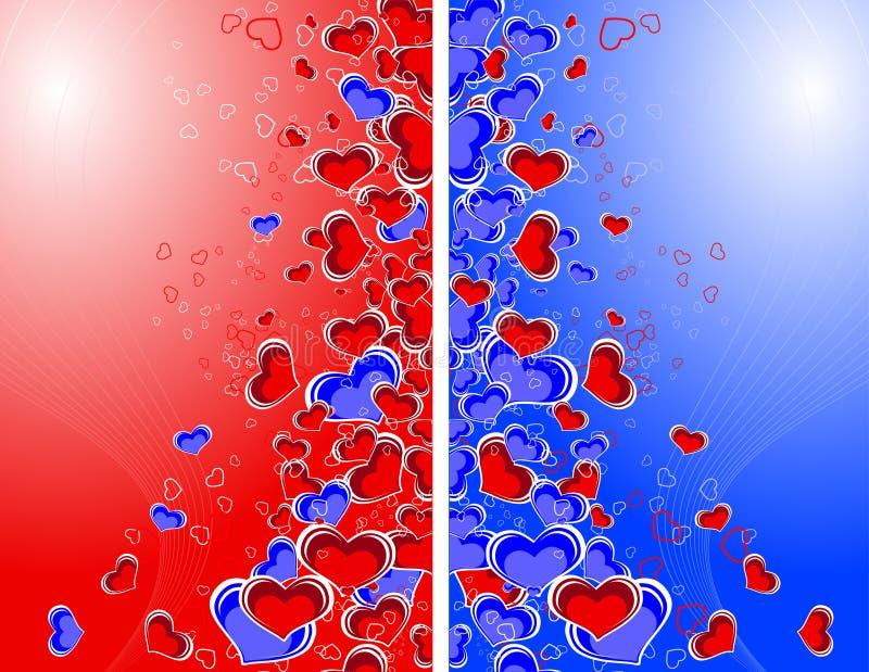 Le thème de Valentine illustration stock