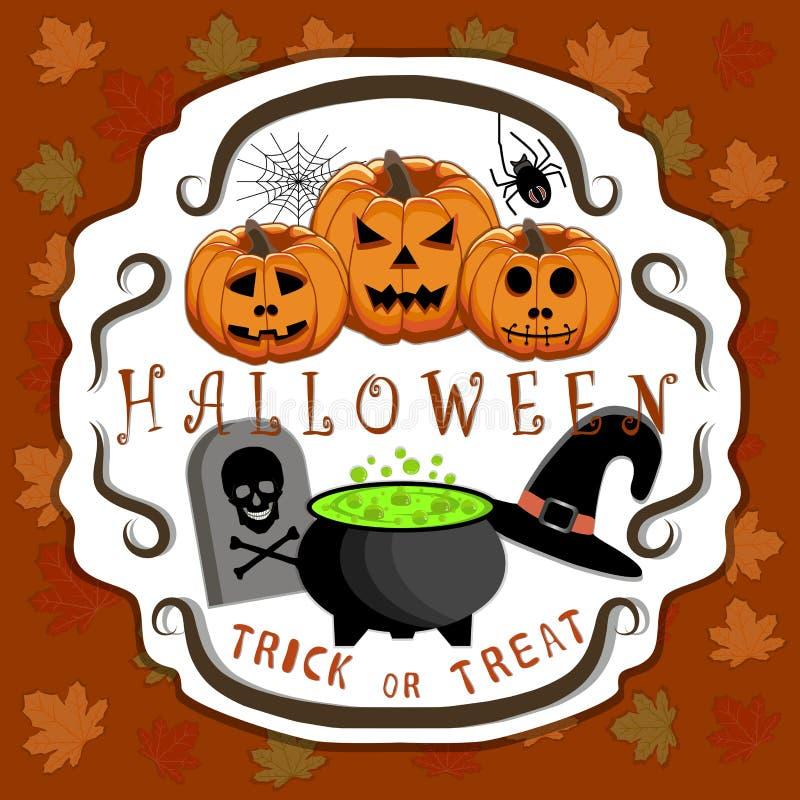 Le thème Halloween illustration de vecteur