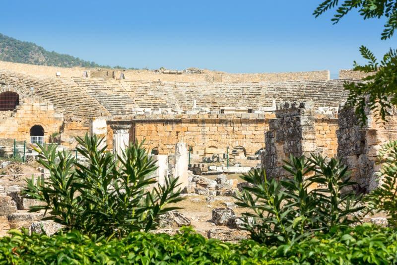 Le théâtre a été probablement construit sous le règne de Hadrian photographie stock libre de droits