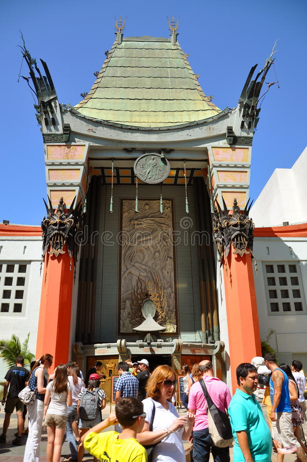 Le théâtre chinois de Grauman, Hollywood, Los Angeles photo libre de droits