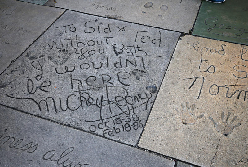 Le théâtre chinois de Grauman, Hollywood, Los Angeles, Etats-Unis photos stock