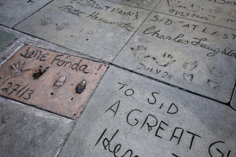 Le théâtre chinois de Grauman, Hollywood, Los Angeles, Etats-Unis image stock