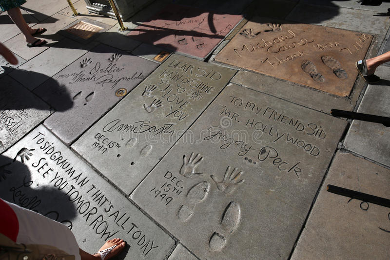 Le théâtre chinois de Grauman, Hollywood, Los Angeles, Etats-Unis photos libres de droits