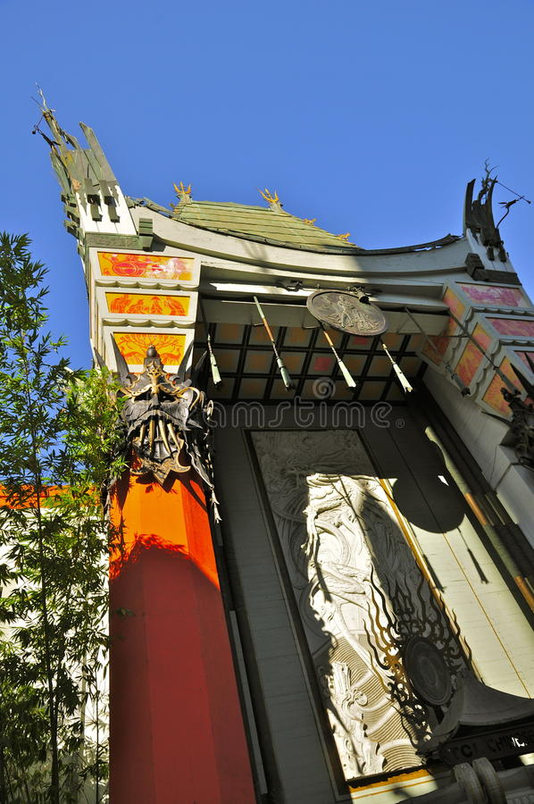 Le théâtre chinois, Hollywood image stock